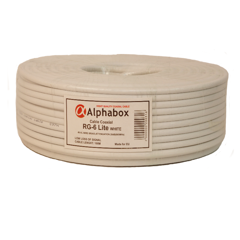 Кабель ALPHABOX RG-6 100m Lite